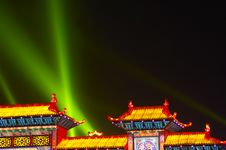 Free Night Scene In Chinese Lantern Festival Royalty Free Stock Photo - 8116005