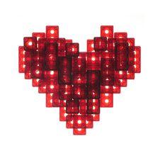 Heart Made Of Plastic Bricks Stock Photos