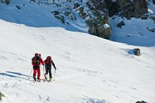 Winter In French Alps Stock Photography