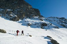 Winter In French Alps Stock Photos