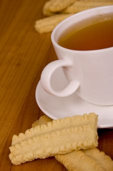 Cup Of Tea And Some Cookies Stock Photo