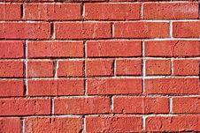 Free Bright Red Brick Wall Royalty Free Stock Photos - 8116678