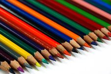Pencils Line Up Stock Photography