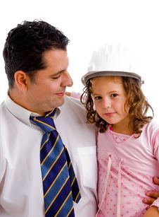 Free Caring Father Posing With His Daughter Stock Photo - 8118030