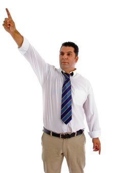 Free Serious Businessman Pointing Sideway Stock Images - 8118224