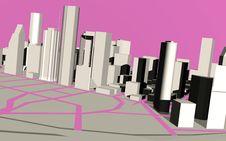 Urban Modern Town. Stock Image