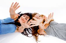 Free Girls Showing Her Hands Royalty Free Stock Photos - 8118448