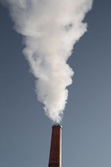 Smoke Chimney Factory Stock Photo