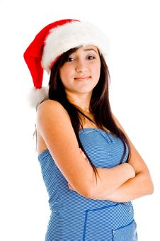 Free Model Wearing Christmas Hat Stock Photo - 8118570