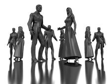 Free Dancing Dummies Royalty Free Stock Photography - 8118617