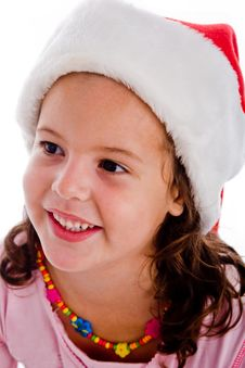 Free Portrait Of Child With Christmas Hat Stock Photo - 8118800