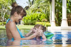 Free In Pool Royalty Free Stock Photography - 8118897