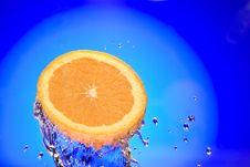 Splashed Orange Stock Images