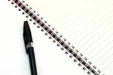 Free Notebook With Pen Royalty Free Stock Photos - 8119258