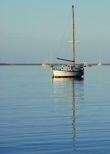 Free Wood Boat At Anchor Royalty Free Stock Image - 8119276