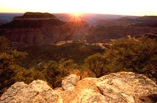 Free Western Grand Canyon Sunset Royalty Free Stock Photo - 8119365