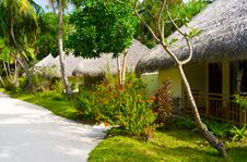 Bungalows In Jungles Royalty Free Stock Photography