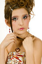 Free Face Closeup Of Girl With Special Eye Makeup Royalty Free Stock Photo - 8121935
