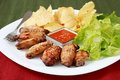 Free Chicken Wings Stock Image - 8123421