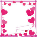 Free Valentine Love Letter Border Royalty Free Stock Photos - 8123688