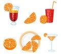 Free Set With Oranges Royalty Free Stock Photo - 8126345