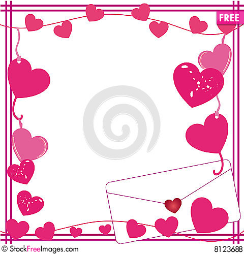 Valentine Love Letter Border - Free Stock Photos & Images ...