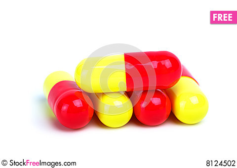 Free Some Yellow-red Capsules Stock Photography - 8124502