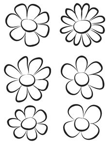 Free Hand Draw Flowers Stock Images - 8120034