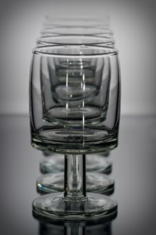 Glass After Glass Royalty Free Stock Photography