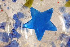 Free Blue Glass Star Royalty Free Stock Photo - 8120075