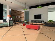 Free Modern Interior Stock Image - 8120181