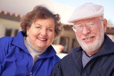 Free Happy Senior Adult Couple Stock Image - 8120511