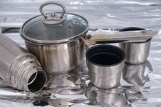 Metal Ware On A Foil. Stock Image