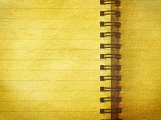 Free Old Notebook Royalty Free Stock Photos - 8120888