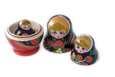 Free Russian Matryoshka Dolls Royalty Free Stock Photography - 8121337