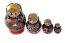 Free Russian Dolls Standing In A Row Stock Photo - 8121340