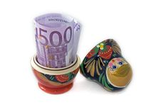 Free Russian Doll With Euro Inside Stock Image - 8121351