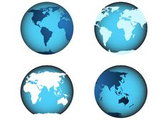 Free World Map, Globe Illustrated Royalty Free Stock Photos - 8121498