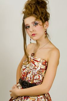 Free Fashion Girl With Special Eye Makeup Royalty Free Stock Images - 8121889