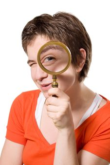 Free Magnifying Glass Royalty Free Stock Photography - 8122477
