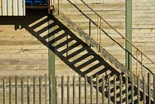 Free Stairway Shadow Patterns Royalty Free Stock Photography - 8122487