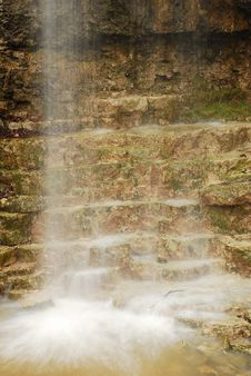 Steps Of The Falls Stock Photography
