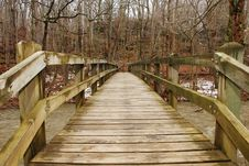 Free Wooden Bridge Stock Photography - 8123002