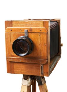 Free Old Rarity Photographic Camera Royalty Free Stock Photos - 8123258