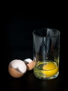 Free Transparent Glass With Egg Royalty Free Stock Photo - 8123595
