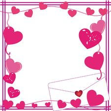 Free Valentine Love Letter Border Royalty Free Stock Photos - 8123688