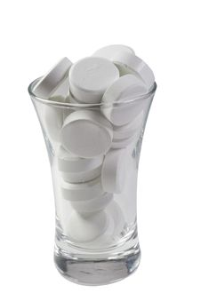 Free Glass Full Of Pills Royalty Free Stock Photos - 8123728