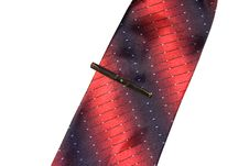 Red And Black Tie With A Tie-clip Royalty Free Stock Photography