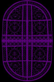 Free Abstract Oval Violet Decoration Stock Photos - 8124403