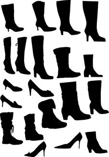 Free Woman Footwear Collection Stock Images - 8124414